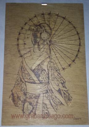 geisha sombrilla